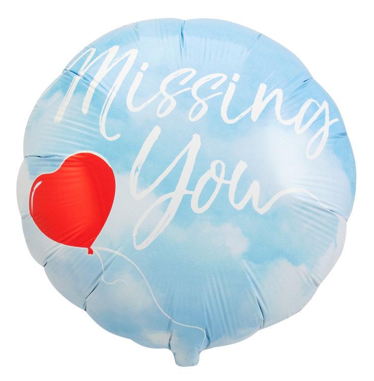 Folieballon Missing you 64388