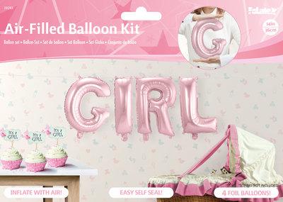Ballonkit geboorte meisje 29283.