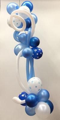 Ballonslinger blauw B006