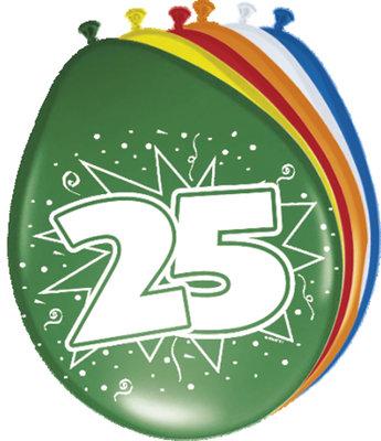 Ballonnen 25 jaar 08225.