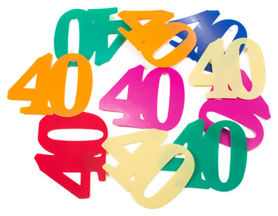 Tafelconfetti 40 jaar 61602.