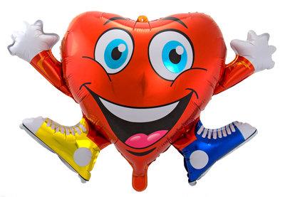 Folieballon hart 61793
