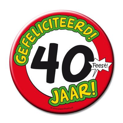 Jumbo button 40 jaar 11370.