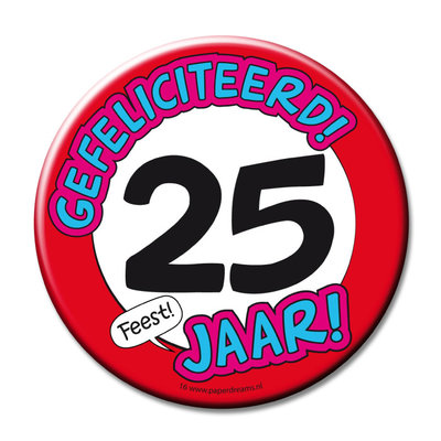 Button 25 jaar 11368.