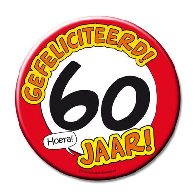 Button 60 jaar 11374.
