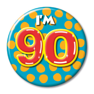 Button 90 jaar 08218.