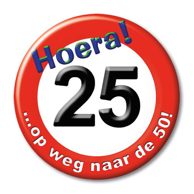 Button 25 jaar 13133.