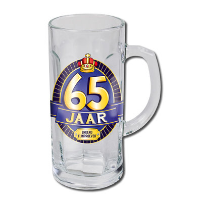 Bierglas 65 jaar 13556.